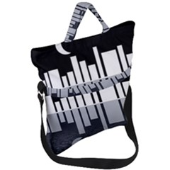 Cityscape City Waterfront Fold Over Handle Tote Bag by Alisyart