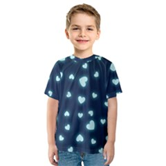 Hearts Background Wallpaper Digital Kids  Sport Mesh Tee