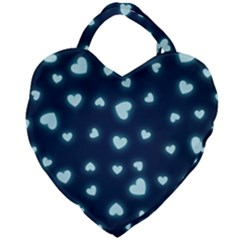 Hearts Background Wallpaper Digital Giant Heart Shaped Tote
