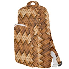 Basket Fibers Basket Texture Braid Double Compartment Backpack