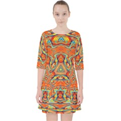 Kaleidoscope Background Mandala Pocket Dress
