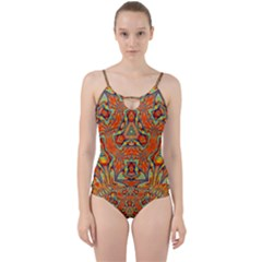 Kaleidoscope Background Mandala Cut Out Top Tankini Set