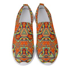 Kaleidoscope Background Mandala Women s Slip On Sneakers