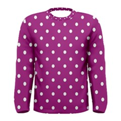 Polka Dots In Purple Men s Long Sleeve Tee