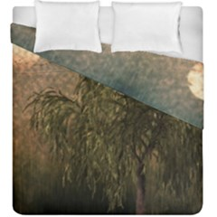 Willow At Sunset Duvet Cover Double Side (king Size) by LoolyElzayat