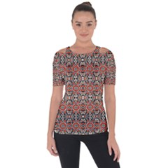 Ml 7 7 Shoulder Cut Out Short Sleeve Top