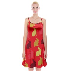 Rabbit, Rabbit   Red Spaghetti Strap Velvet Dress