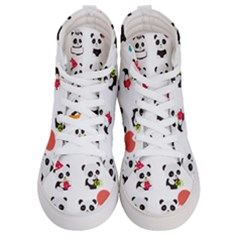 Giant Panda Bear Cuteness Women s Hi Top Skate Sneakers