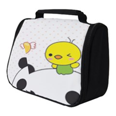 Giant Panda Cartoon Drawing Full Print Travel Pouch (small)