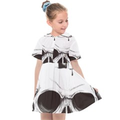 Skull Knife Euclidean Vector Skull Sword Inserted Kids  Sailor Dress