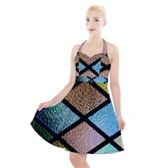Stained Glass Soul Halter Party Swing Dress
