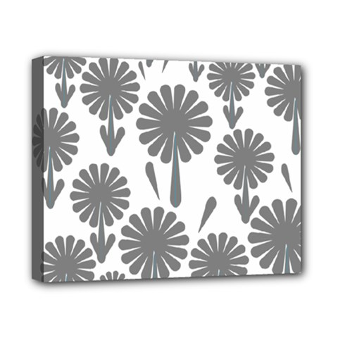 Zappwaits Flowers Black Canvas 10  X 8  (stretched)