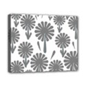 zappwaits flowers black Canvas 10  x 8  (Stretched) View1