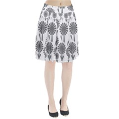 Zappwaits Flowers Black Pleated Skirt by zappwaits