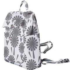 Zappwaits Flowers Black Buckle Everyday Backpack by zappwaits