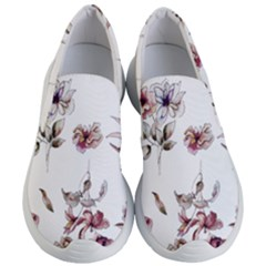 Purple Flowers Bring Cold Showers Women s Lightweight Slip Ons by WensdaiAddamns