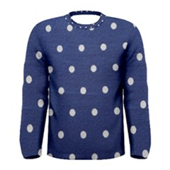 Navy Polka Dot Men s Long Sleeve Tee