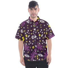 Buttercups & Violets Men s Short Sleeve Shirt