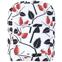 Rose Hip Pattern Branches Autumn Full Print Backpack by Jojostore