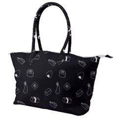 Sushi Pattern Food Canvas Shoulder Bag