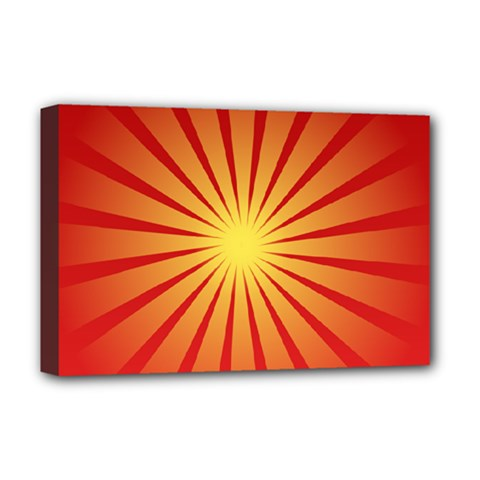 Sunburst Sun Deluxe Canvas 18  X 12  (stretched)
