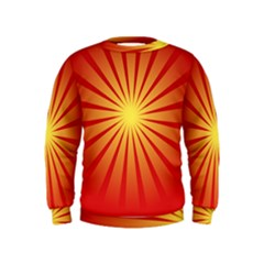 Sunburst Sun Kids  Sweatshirt