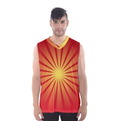 Sunburst Sun Men s Basketball Tank Top