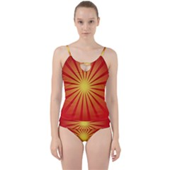 Sunburst Sun Cut Out Top Tankini Set