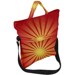 Sunburst Sun Fold Over Handle Tote Bag by Alisyart