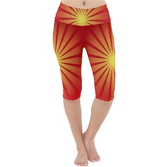 Sunburst Sun Lightweight Velour Cropped Yoga Leggings