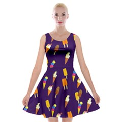 Seamless Ice Cream Velvet Skater Dress
