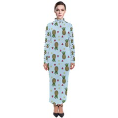 Pineapple Watermelon Fruit Lime Turtleneck Maxi Dress by Mariart