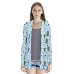 Pineapple Watermelon Fruit Lime Drape Collar Cardigan by Mariart