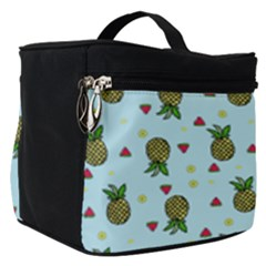 Pineapple Watermelon Fruit Lime Make Up Travel Bag (small) by Mariart