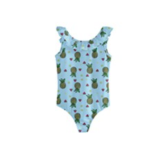 Pineapple Watermelon Fruit Lime Kids  Frill Swimsuit