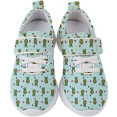 Pineapple Watermelon Fruit Lime Kids  Velcro Strap Shoes