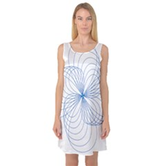 Spirograph Pattern Drawing Sleeveless Satin Nightdress by Alisyart