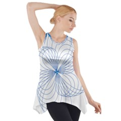 Spirograph Pattern Drawing Side Drop Tank Tunic