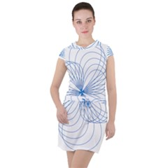 Spirograph Pattern Drawing Drawstring Hooded Dress
