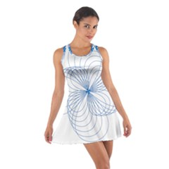 Spirograph Pattern Drawing Cotton Racerback Dress