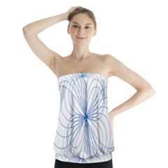 Spirograph Pattern Drawing Strapless Top