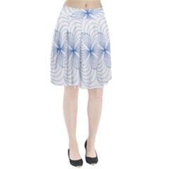 Spirograph Pattern Drawing Pleated Skirt
