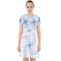 Spirograph Pattern Drawing Adorable In Chiffon Dress