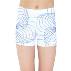 Spirograph Pattern Drawing Kids  Sports Shorts