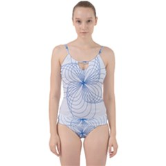 Spirograph Pattern Drawing Cut Out Top Tankini Set