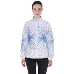 Spirograph Pattern Drawing High Neck Windbreaker (women) by Alisyart