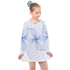 Spirograph Pattern Drawing Kids  Long Sleeve Dress