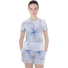 Spirograph Pattern Drawing Women s Tee And Shorts Set
