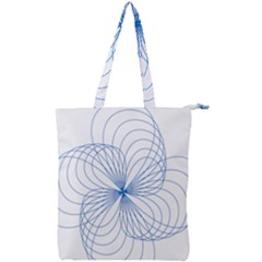 Spirograph Pattern Drawing Double Zip Up Tote Bag