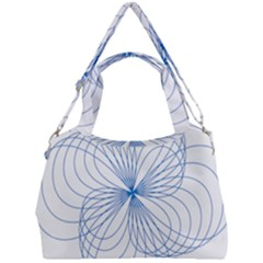 Spirograph Pattern Drawing Double Compartment Shoulder Bag by Alisyart
